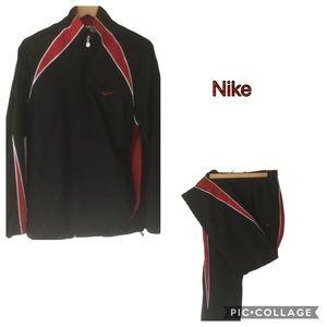 Nike jogging suit black & red SZ M